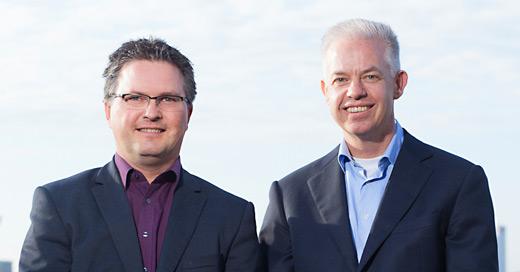 Directeuren Johan Geleijns en Kees van der Lee